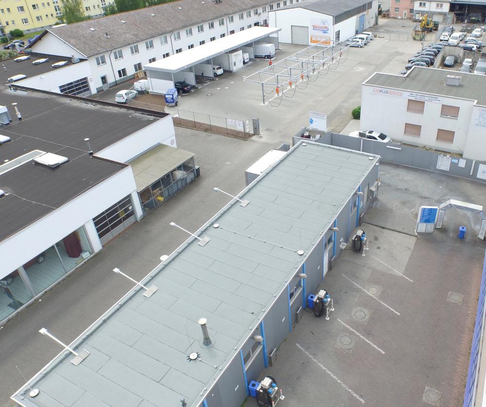 Aqua Autowasch Waschanlage Frankfurt von oben