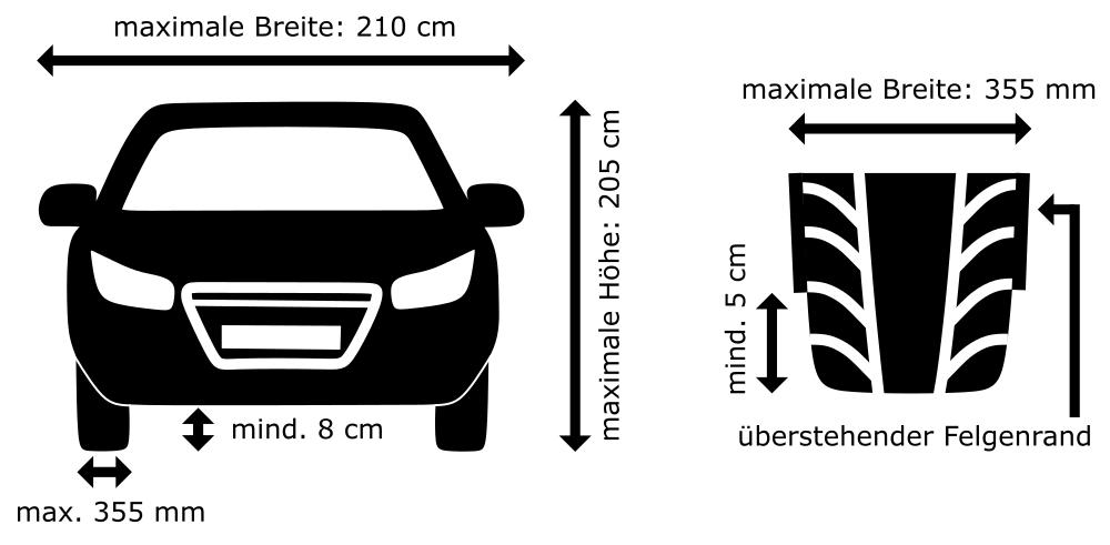 Fahrzeugabmessungen AQUA Autowasch